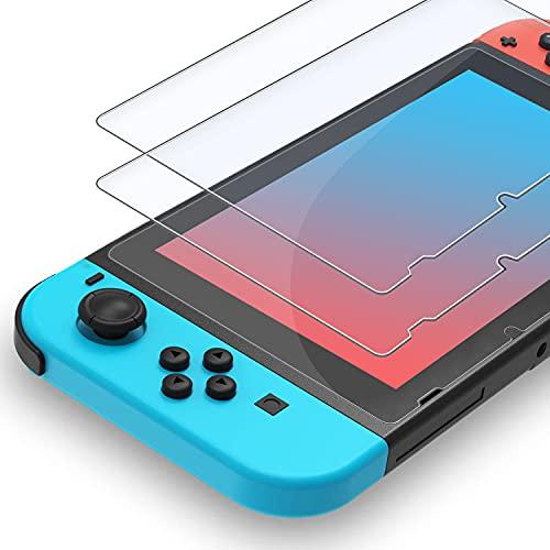 XINRUISEN 2Stück Displayschutzfolie Glas für Nintendo Switch, Panzerglas Schutzfolie für Nintendo Switch-HD Schutzfolie Anti-Kratzer Panzerglasfolie, Anti-Bläschen Bruchsicher Displayschutzfolie