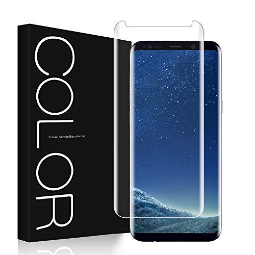 G-Color Galaxy S8PLUS Protector Pantalla, [Alta Viscosidad], Cristal Vidrio Templado de 3D [Anti-Choque][Alta Sensibilidad] Protector de Pantalla para Samsung Galaxy S8+/S8 Plus