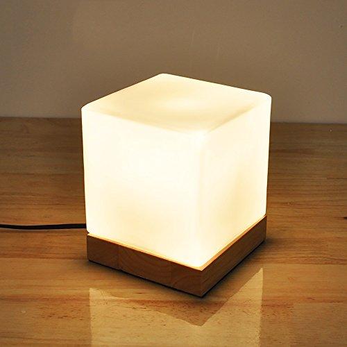 TOYM UK Lampe à lèvres, créative, simple, moderne, verre, solide, bois, décoratif