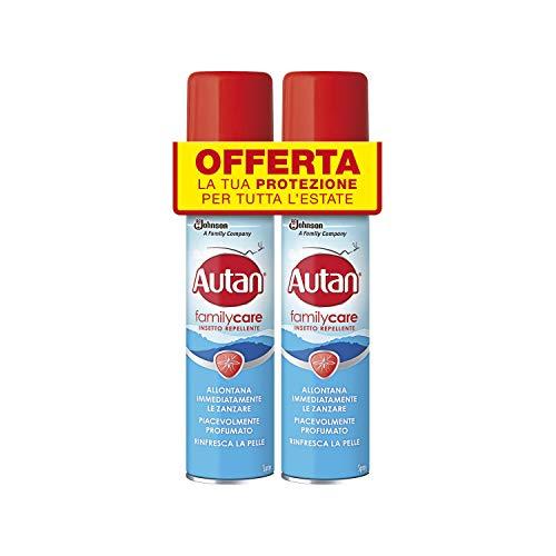 Autan Family Care Spray Bipacco, Insetto Repellente e Antizanzare Tigre e Comuni, 2 Confezioni da 100 ml