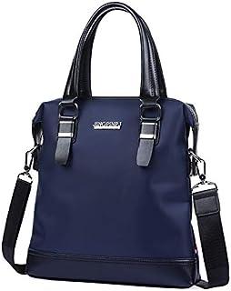 DIEBELLAU Men's Oxford Cloth Men's Horizontal Version Handbag Business Briefcase Shoulder Diagonal Package (Color : Blue)