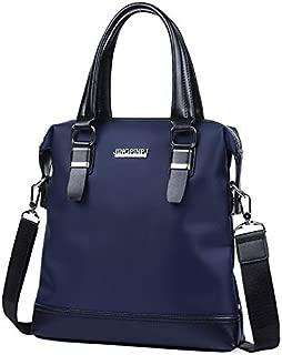 Men's Oxford Cloth Men's Horizontal Version Handbag Business Briefcase Shoulder Diagonal Package (Color : Blue)