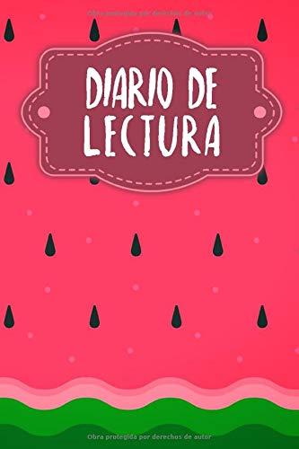 Diario de Lectura: Book Journal a completar | para todos los amantes de los gusanos de libros y de la literatura | Motivo: Sandía
