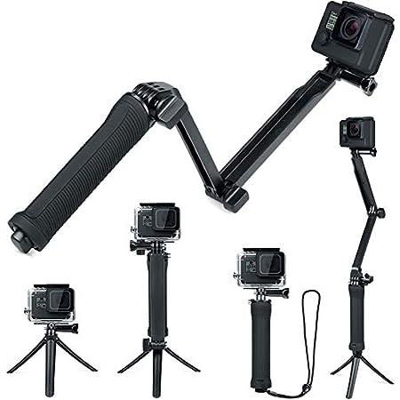 FiTSTILL 防水3ウェイ三脚 Hero 10/9/8/7/6/5/4 Black Session Max, DJI osmo actionその他のアクションカメラ, ハンドグリップスタンド付き