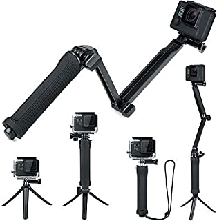 FitStill Waterproof 3 Way Tripod for GoPro Hero 7/6/5/4/3/2/1 Session and Other Action Cameras, Detachable Extendable Floa...