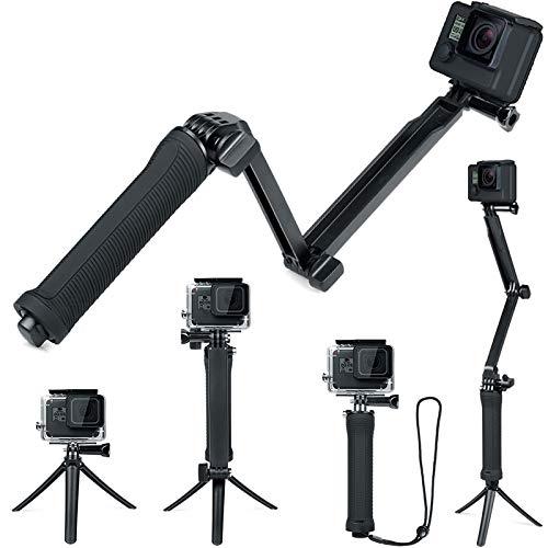 FiTSTILL 防水3ウェイ三脚 Hero 7/6/5/4/3/2/1 Session その他のアクションカメラ, ハンドグリップスタンド付き