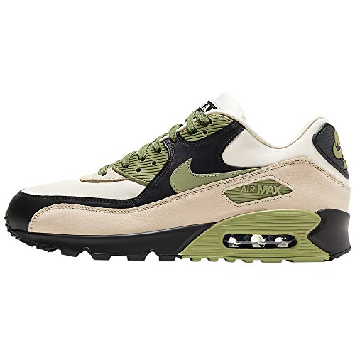 Nike Air MAX 90 NRG, Zapatillas para Correr Hombre, Light Cream Alligator Pale Ivory Black, 45 EU