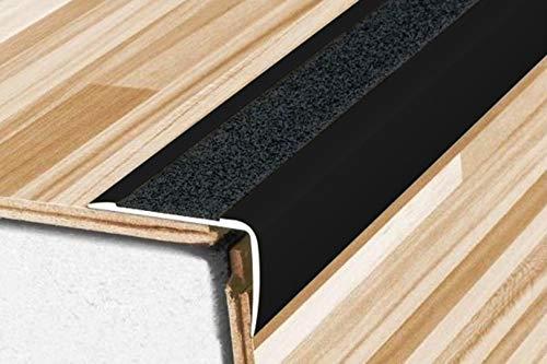 1 Stück | Winkelprofile | eloxiert | Anti-Rutsch | 900x41x26mm | A44 | schwarz