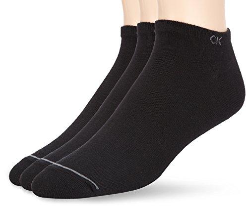 Calvin Klein socks Socquettes Homme Coton, Pack De 3 Calzini, Opaco, nero(Schwarz (ASST. 00), Taglia produttore: 40 (Pacco da 3) Uomo