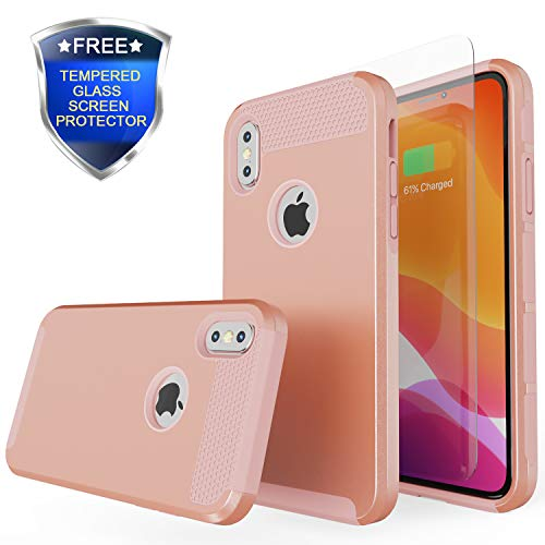 Rhidon for iPhone Xs Max Case,Slim Hybrid Hard PC Shell Flexible Shockproof TPU Bumper Anti-Scratch Non-Slip Texture Protective Cover for iPhone Xs Max 6.5