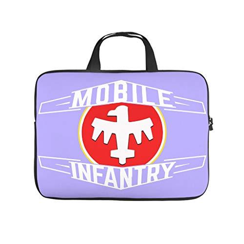 Hehweiiiyda Mobile Infantry Printed Laptop Bag Bag Portable Tablet Shockproof Protective Case - White - 12'