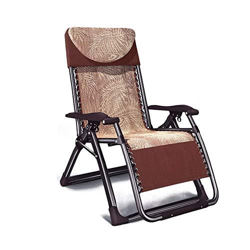 KOIUJ Deber de jardín reclinable sillón reclinable Gravedad Cero, Chaise Tumbona Plegable Cubierta Impermeable Silla Ligera for Acampar al Aire Libre Patio Beach