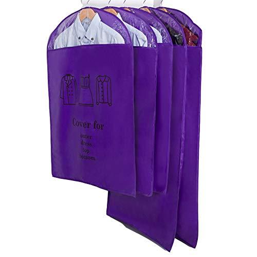 QFFL Sac de compression sous vide Housse anti-poussière, Sac en tissu Oxford pour housse de protection en tissu Oxford (5 par paquet) Sac de protection (Couleur : Purple, taille : (5 large))