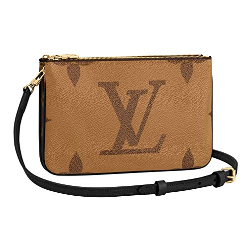 Louis Vuitton Monogram Giant Double Zip Pochette Cross Body Handbag Article: M69203