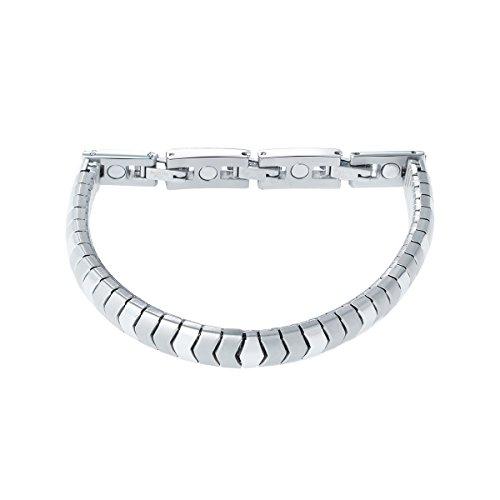 Elegante Flex energie magneetarmband Energetix 4you 439 flexibel zilver mat + gepolijst magnetix design S-XL
