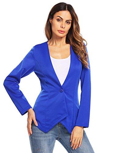 Zeagoo Damen-Strickjacke, langärmelig, einknöpfig, vorne offen -  mehrfarbig -  Small
