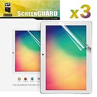 Dragon Touch タブレット K10 /Note Pad K10 タブレット専用 液晶保護フィルム 耐衝撃 耐傷 防汚 防指紋 スムースタッチ クリア 透明 3枚入り