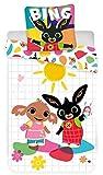 Bing Copripiumino per Lettino - Biancheria da Letto per Bambini 100 x 135 + 40 x 60 cm, in cotone
