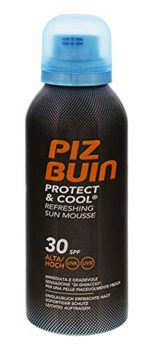 3x PIZ BUIN Protect & Cool Refreshing Sun Protection Foam LSF 30 chaque 150ml