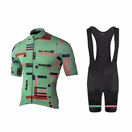 Uglyfrog 2018 Spring/Verano Hombres Camisetas De Manga Corta Ciclismo Maillots+Bib Pantalones Cortos Bodies Ropa De Bicicleta De Carretera DXMZ02
