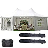 DELTA Canopies 29'x21' Decagonal Wedding Party Tent Canopy Gazebo Heavy Duty Water Resistant White