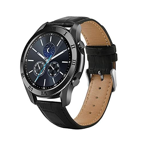 Smart Watch Men Samsung Watch 4 Android Sports Smartwatches Huawei Homens Pulseira de Fitness Samsung Bluetooth Chamada Relógio (Color : Black)