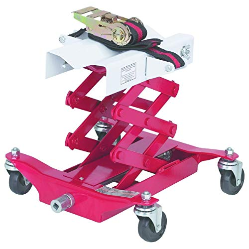 450 Lbs Capacity Low Lift Transmission Jack with Safety Chain/Strap
