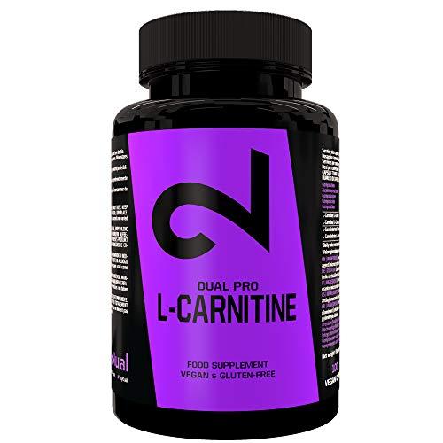 DUAL Pro L-Carnitina | 100 Cápsulas Veganas De Dosis Alta | 500 Mg De L- Carnitina Por Cápsula | Suplemento Dietético 100% Natural Sin Aditivos| Certificado Por Laboratorio | Fabricado En La UE