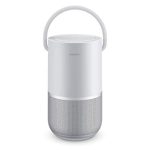 Bose Portable Smart Speaker - Altavoz portátil con control de voz Alexa integrado, Color Plata