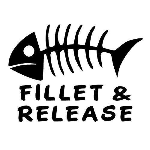 Social Liuzi 15.2cm * 11cm del vinilo de filete de pescado de lanzamiento de pesca Huesos del barco del lago pegatina de la diversión etiquetas engomadas del coche Car Styling -A Social Liuzi