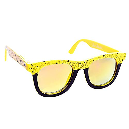 Sun-Staches SG2738 Officially Licensed PokÃmon Yellow Lens Yellow Pikachu Nerd Frame Arkaid Sunglasses, One Size, Yellow, Black