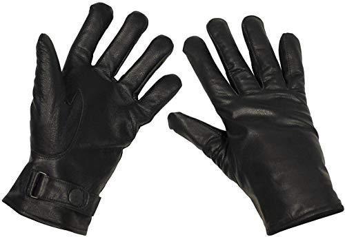 Bundeswehr Lederhandschuhe, gefüttert, schwarz, Größe XL