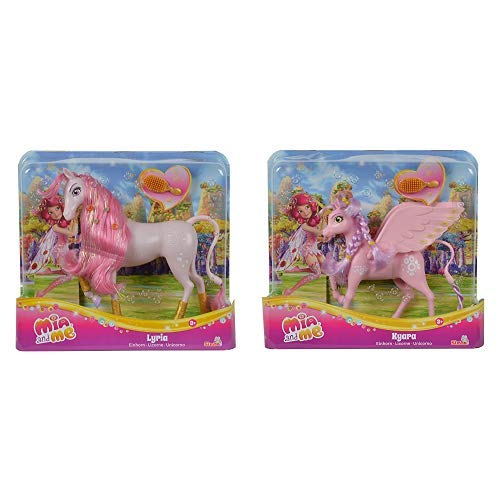 Simba 109480094 – Mia and Me neue Version Einhorn Lyria &  109480092 - Mia and Me Einhorn Kyara
