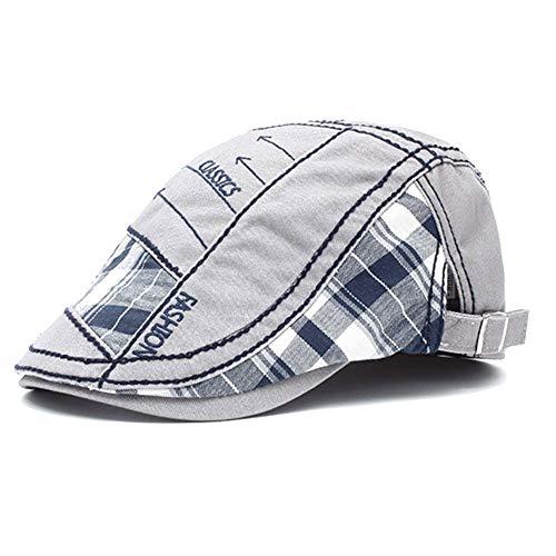 Tioamy Schirmmütze Kappe Unisex Mütze Stickerei Damen Herren Mütze Flatcap Sportmütze Newsboy Cap Beret Cap Cabbie Cap