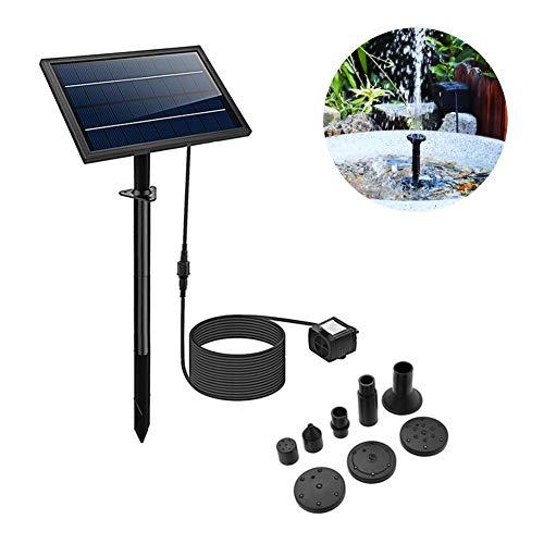 Bomba de fuente solar de 8W para baño de pájaros, kit de bomba de agua sumergible con energía solar 200L / H para piscina, estanque, decoración de jardín