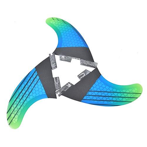 Changor Tabla de Surf Cola Aleta, Apropiado Paddlebo Plataforma Bolsa G5 con Vidrio Fibra y Panal y Carbón Fibra Tabla de Surf Aleta