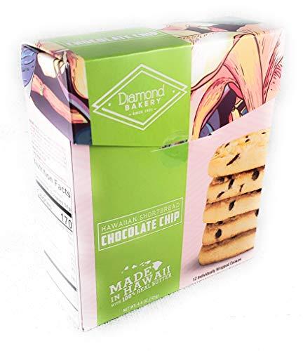 Diamond Bakery Chocolate Chip Hawaiian Macadamia Nut Shortbread Cookies 4.4 oz