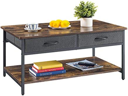 Mr IRONSTONE Coffee Table with Storage Drawers for Living Room Modern Coffee Table with Black product image