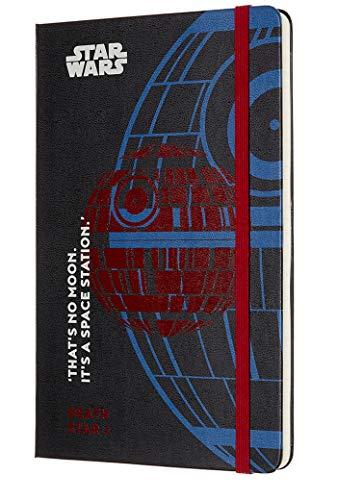 Moleskine - Agenda Semanal de 18 Meses, Edición Limitada Star Wars, Estrella de la Muerte, Agenda Escolar 2019/2020 con Tapa Dura y Cierre Elástico, Tamaño Grande 13 x 21 cm, 208 Páginas