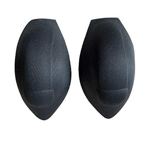 DESMIIT Men's Sponge 3D Pad Fun Sexy Inner for Both Swimwear&Underwear Inside 2pcs Pack Black2
