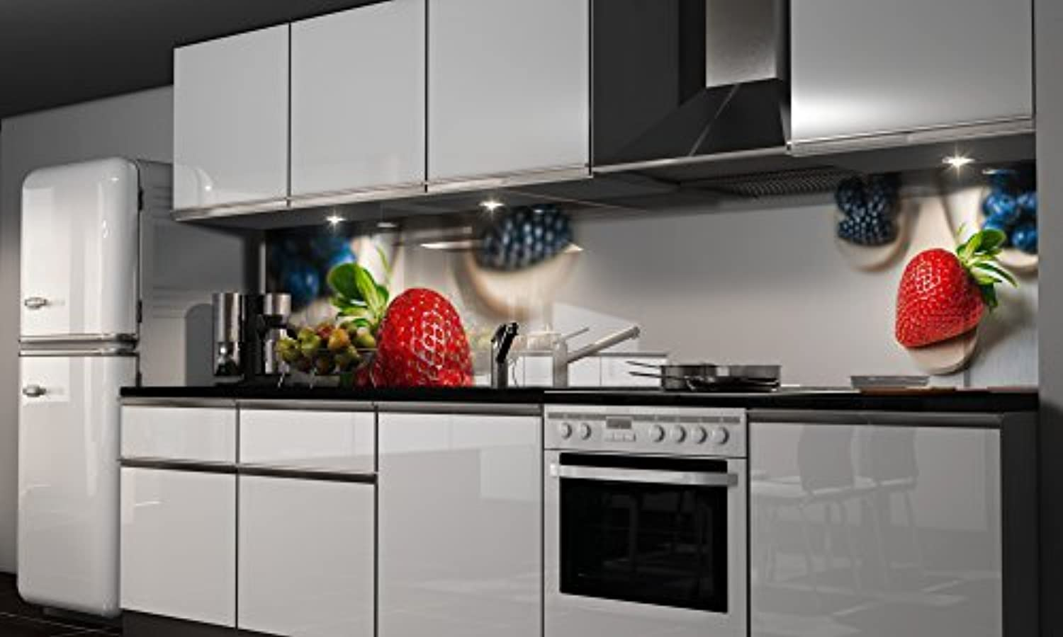 Küchenrückwand-Folie die Erdbeere Klebefolie Klebefolie ...