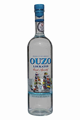 Feiner Ouzo Loukatos 700ml 38% Vol. aus Griechenland griechischer Destillat Patras Likör Tresterbrand Trester Uso Anis Schnaps