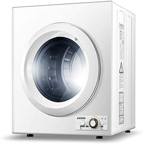 AICOOK 1400W Compact Laundry Dryer 9 lbs Portable Dryer for Apartments 2 65 Cu Ft Compact Tumble product image