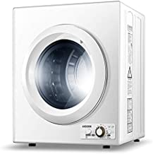 Clothes Dryer, 9 lbs Load Portable Dryer for Apartments, 2.65 Cu.Ft 1400W Compact Laundry Dryer with Sensor System, Stainless Steel Tub and 4 Automatic Drying Mode, 110V & 120V