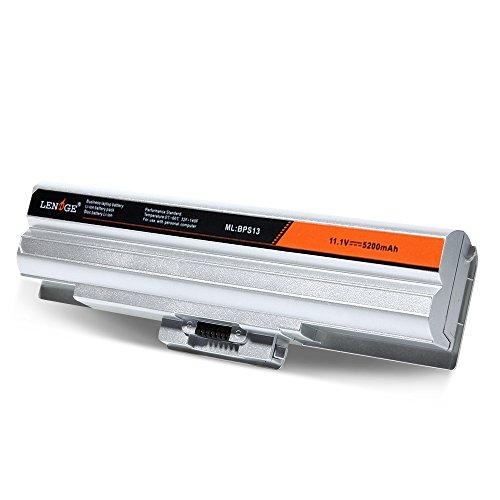 LENOGE Batteria portatile Notebook Sostitutiva per Sony Vaio VGP-BPL13 VGP-BPL21 VGP-BPS13 VGP-BPS13B/S VGP-BPS21 5200mAh 11.1V Argento
