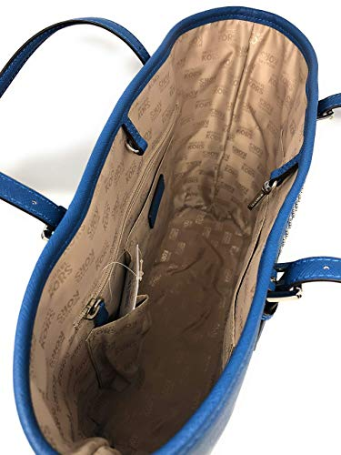 Fashion Shopping Michael Kors Women's Jet Set Travel Micro Stud Leather Carry All Tote Handbag