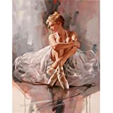 ZXXGA 5D Diamante Pintar por Número Kits Bailarina De Ballet Punto De Cruz Diamante Completo Amantes del Arte Diamante Cuadrado Sin Marco 40X50Cm