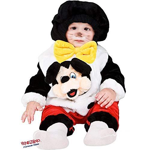 Babyshop Baby-Plüsch-Strampler 88071 ab 6 Monate Kapuze Reißverschluss Oberteil Innenbein