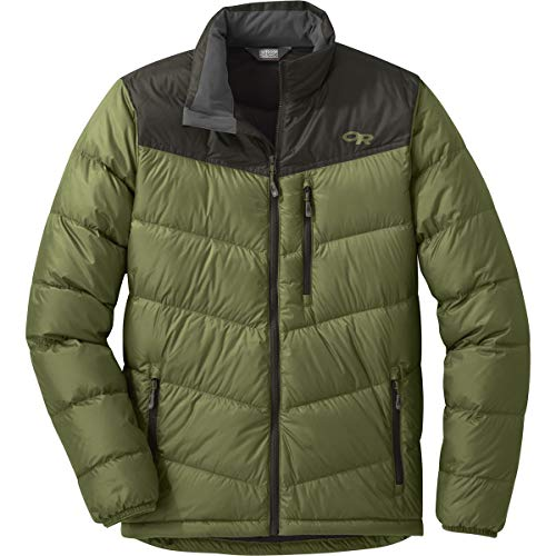 Outdoor Research Transcendent Down Jacket - Men's Seaweed/Forest, M