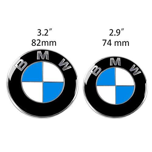 Für B M W Embleme Set Motorhaube und Kofferraum Ersatz für Vorne 82mm und 74mm Hinten Fahrzeugausstattung Badge Plakette E46 E90 E90 LCI